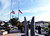 Flags fly at Half-Staff Wednesday at Santa Cruz Police Department Headquarters on Center Street. (Shmuel Thaler/Sentinel)