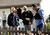 Members of the FBI and local police investigators at the scene of a shoot out between suspect Jermy Peter Goulet and Santa Cruz police on Doyle St. in Santa Cruz, Calif. on Wednesday, Feb. 27, 2013.  Santa Cruz police officers, detective Sgt. Loran 