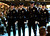 A Santa Cruz Police Department honor guard participates in the memorial for detective Elizabeth Butler and detective Sgt. Loran 'Butch' Baker. (Shmuel Thaler/Sentinel)
