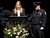 Santa Cruz police detective Sgt. Loran 'Butch' Baker's daughter Jillian speaks as his son Adam provides support during Baker's memorial service at HP Pavilion Thursday. (Shmuel Thaler/Sentinel)
