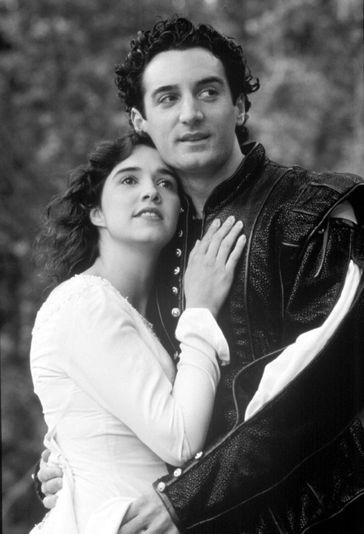 """. Holly Twyford and Dominic Comperatore perform in \""""Romeo and Juliet\"""" at Shakespeare Santa Cruz. (Sentinel file, undated)"""