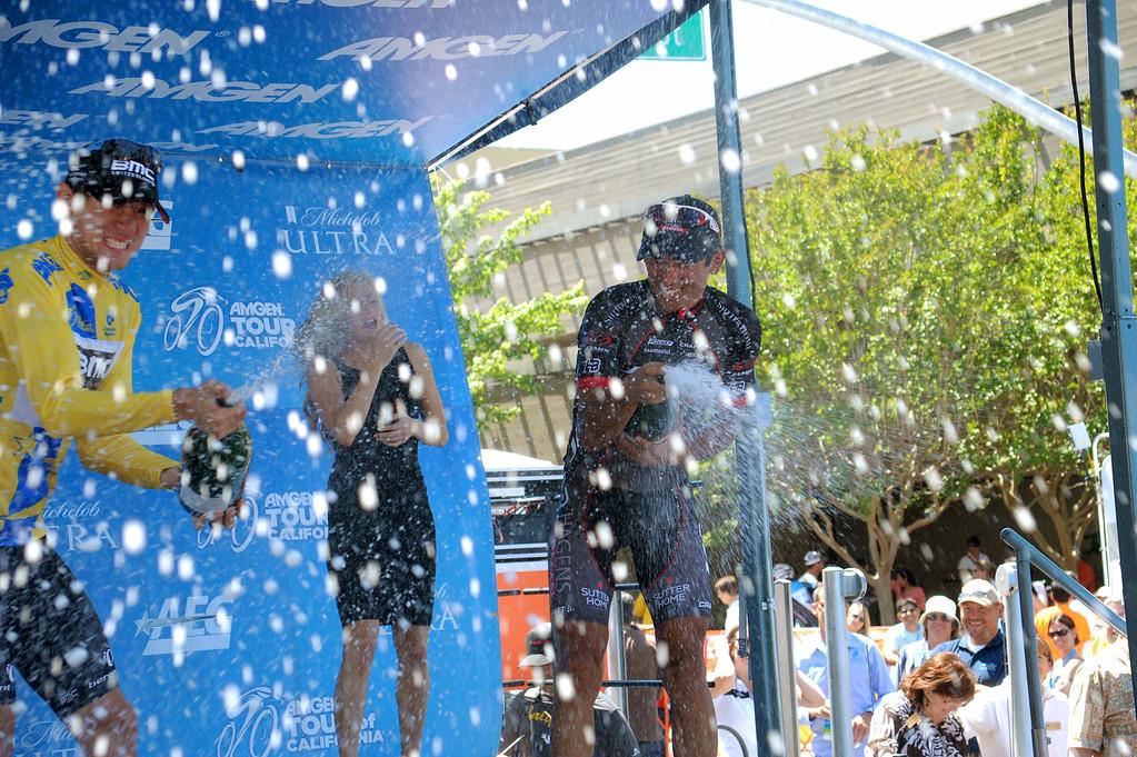 . Tejay van Garderen celebrates. (Robert Torre/Special to the Sentinel)