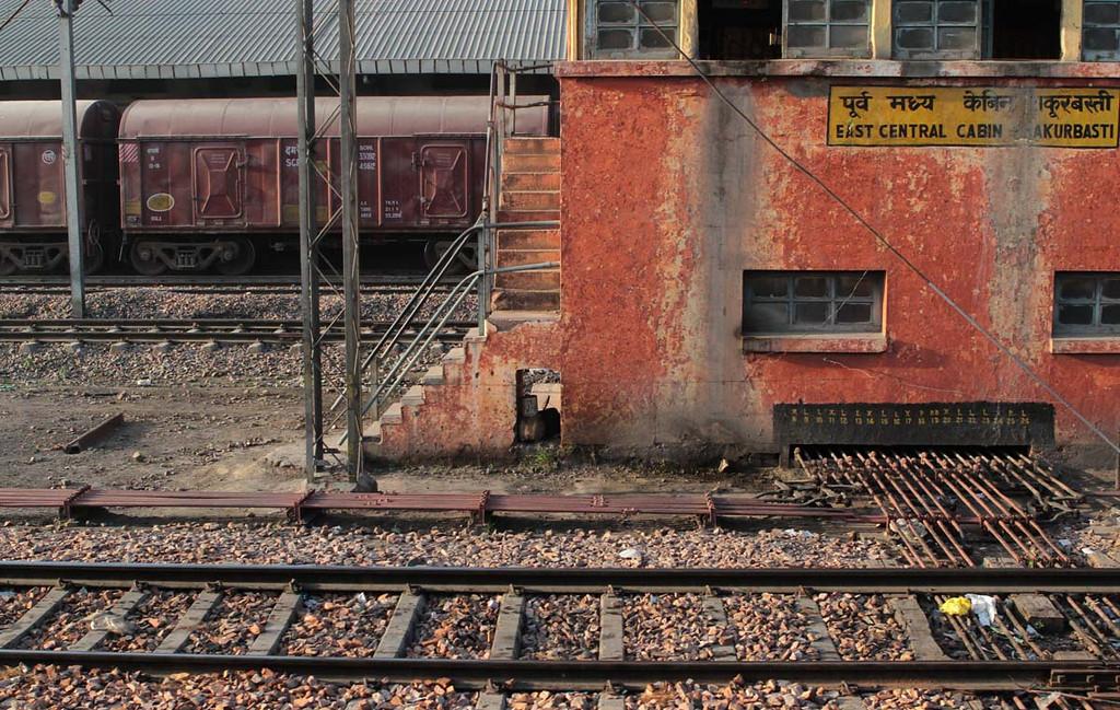 . Morning light in a north Delhi train depot. Shmuel Thaler/Sentinel