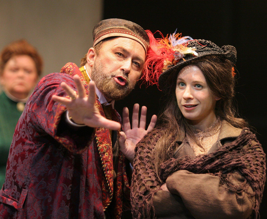 ". Paul Whitworth and Julia Coffey in Shakespeare Santa Cruz\'s 2006 production of \""Pygmalion.\"" (Steve DiBartolomeo/Contributed)"