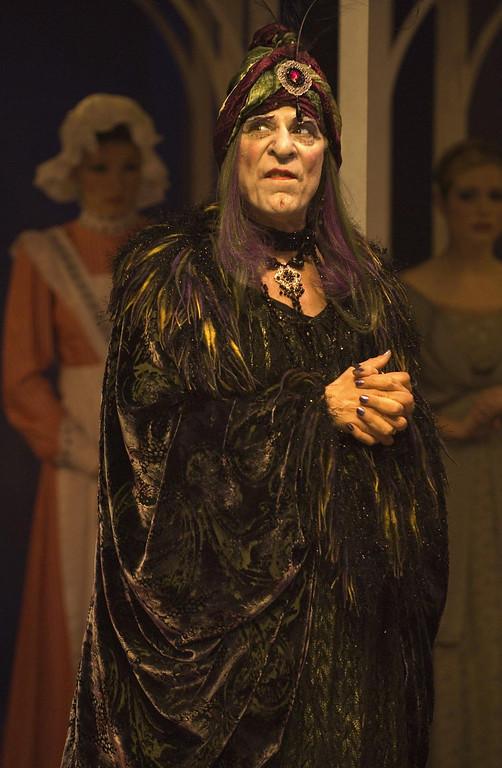 """. Joseph Ribeiro as Belladona in Shakespeare Santa Cruz\'s 2006 production of \""""Sleeping Beauty.\"""" (Photo courtesy of Steve DiBartolomeo, SSC)"""