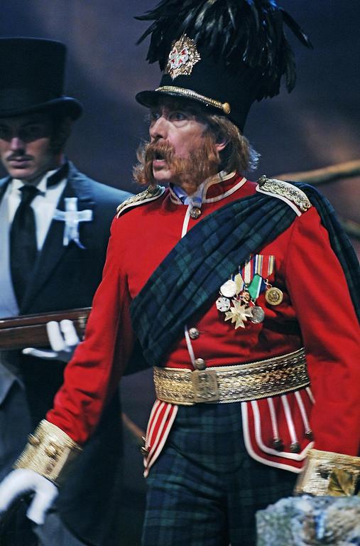 ". Mark Bramhall as Major McGillicuddy in Shakespeare Santa Cruz\'s 2005 production of \""Engaged.\"" (Steve DiBartolomeo/Contributed)"