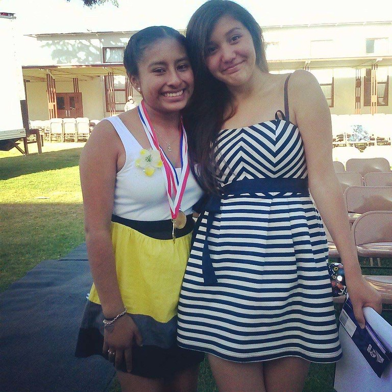 . Socorro Robles and Lindsey Robles at Branciforte Middle School. (Socorro Robles/Contributed)