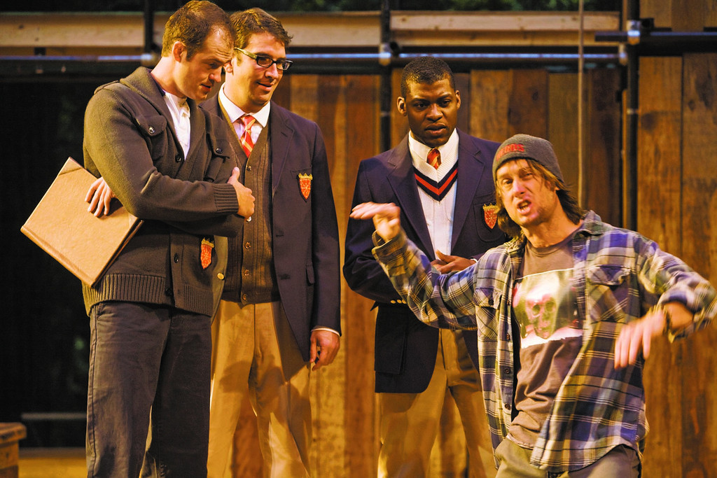 ". J. Todd Adams, Adam OíByrne, Brett Duggan and Richard Prioleau star in the 2010 Shakespeare Santa Cruz production of \""Loveís Laborís Lost.\"" (RR Jones/Contributed photo)"