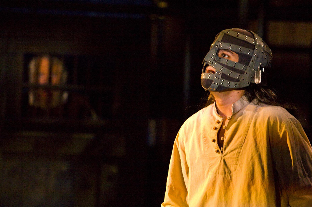 """. Charles Pasternak plays Philippe, the man in the iron mask, in Shakespeare Santa Cruz\'s world premiere of \""""The Man In the Iron Mask.\"""" (Photo courtesy of RR Jones, Shakespeare Santa Cruz.)"""