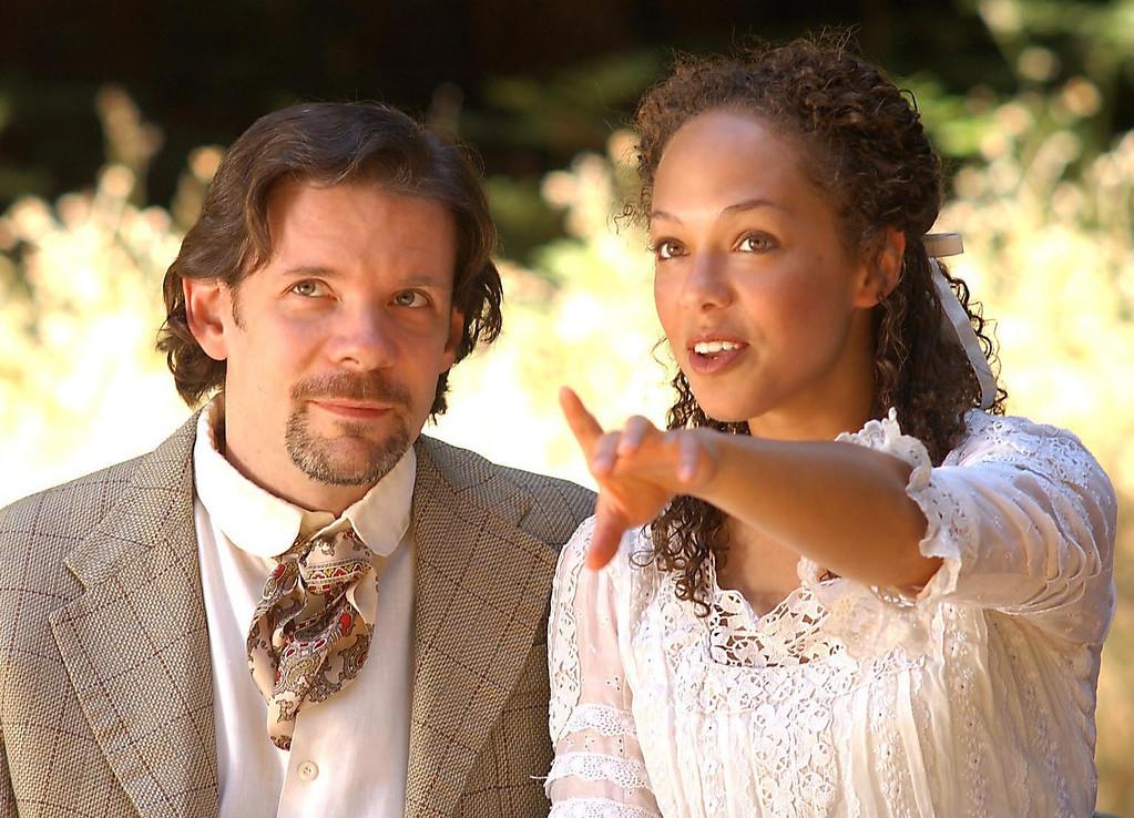 ". Thomas Jay Morgan (Trigorin) and Noel True (Nina) in the Shakespeare Santa Cruz production of \""The Seagull.\"" (Sentinel file)"