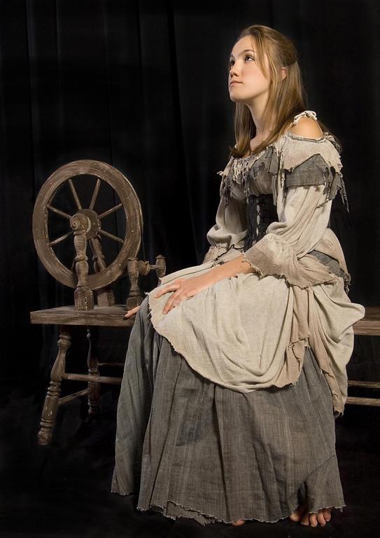 ". Shashone Brooks as Cinderella in Shakespeare Santa Cruz\'s 2005 Winter production of \""Cinderella.\"" (Photo courtesy of Steve DiBartolomeo, SSC)"