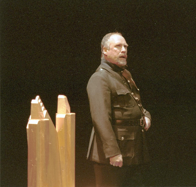 """. Scene from Shakespeare Santa Cruz production of \""""Macbeth.\"""" Pictured is Gary Armagnac, as \""""Duncan.\"""" The play was directed by Michael D. Edwards. (Sentinel file)"""