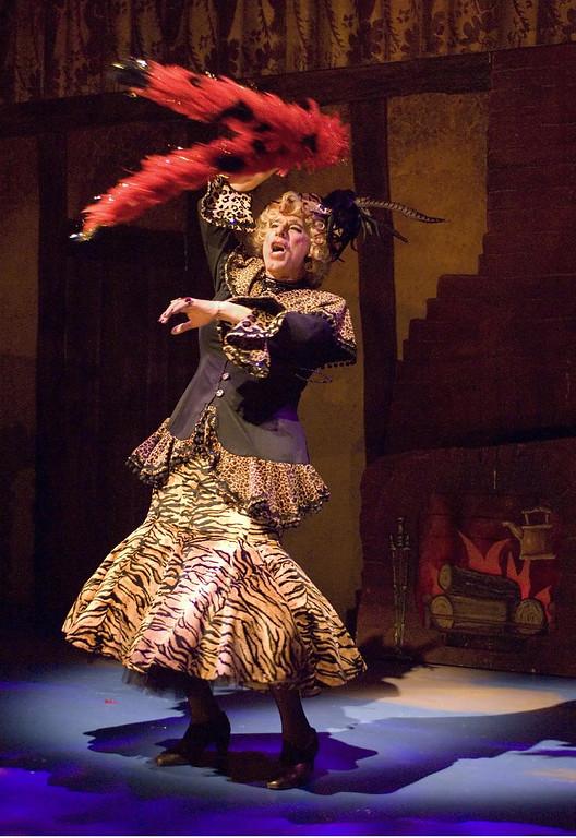 ". Joseph Ribeiro portrays Mrs. Baden Rotten in Shakespeare Santa Cruz\'s production of \""Cinderella.\"" (Courtesy Steve DiBartolomeo/Shakespeare Santa Cruz)"