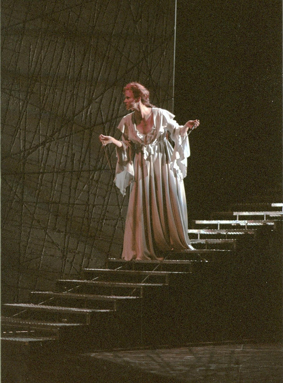 """. Scene from Shakespeare Santa Cruz production of \""""Macbeth.\"""" Pictured is \""""Lady Macbeth,\"""" as portrayed by Mhari Sandoval. The play was directed by Michael D. Edwards. (Sentinel file)"""
