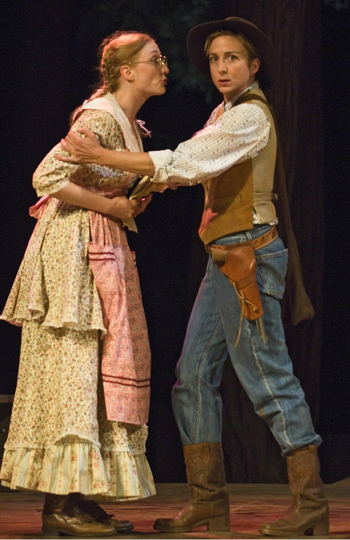 """. Mary McCool and Kate Eastwood Norris in Shakespeare Santa Cruz\'s 2006 production of \""""As You Like It.\"""" (Photo courtesy of Steve DiBartolomeo, SSC)"""